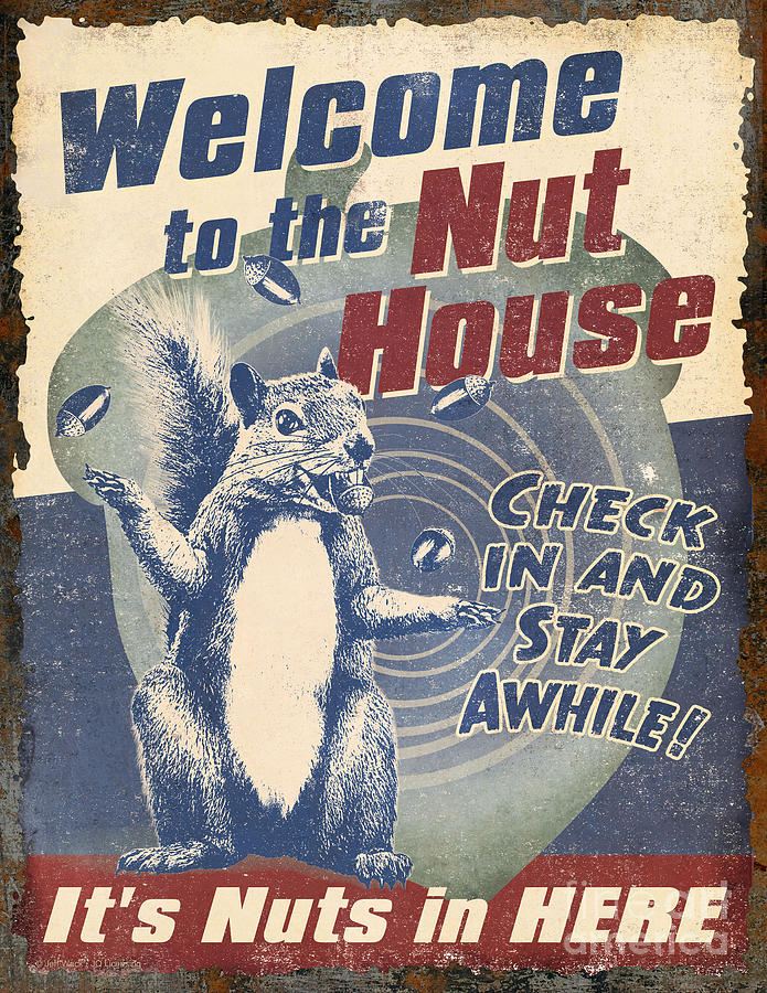 Welcome nut house painting by jq licensing for Pecan house