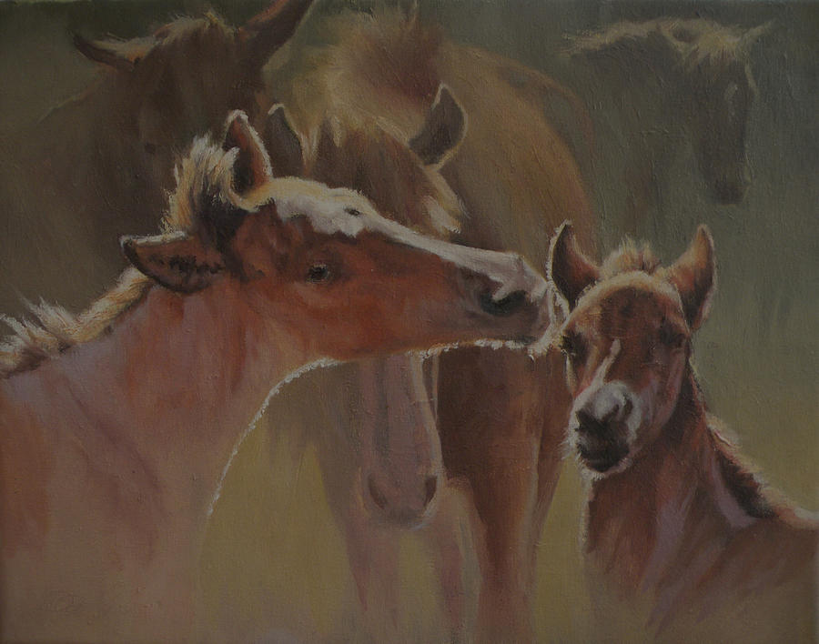 Equine Painting - Welcome Party by Mia DeLode