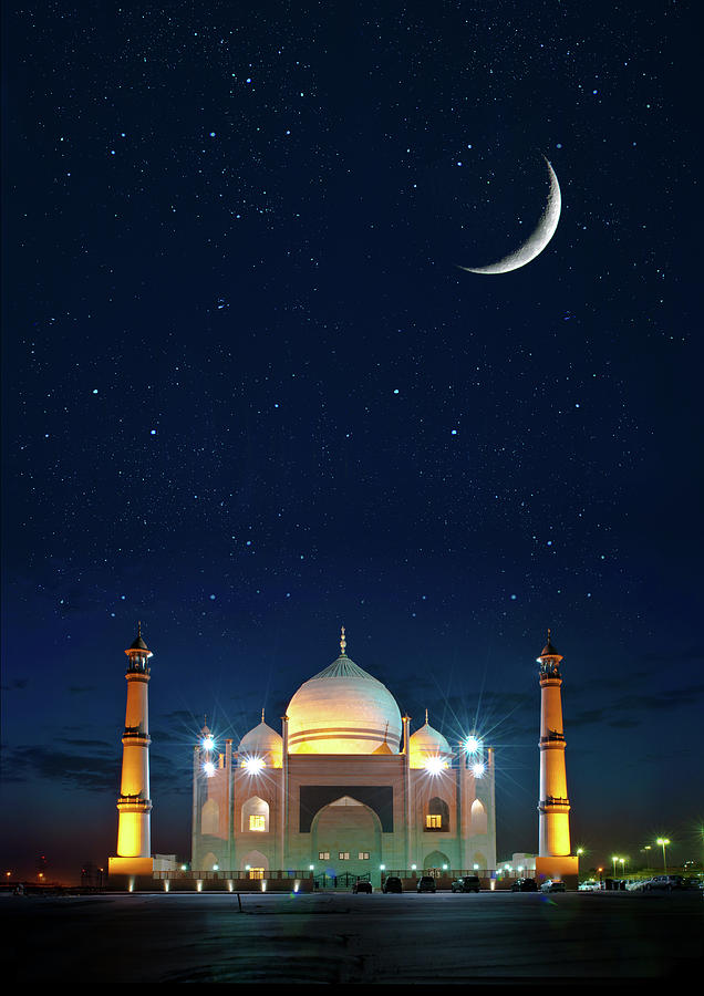 Mosque Photograph - Welcome Ramadan by Shahbaz Hussains Photos