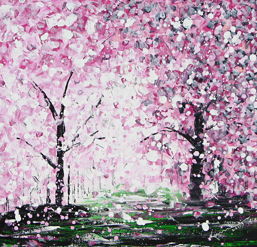 Spring Painting - Welcome Spring by Kume Bryant