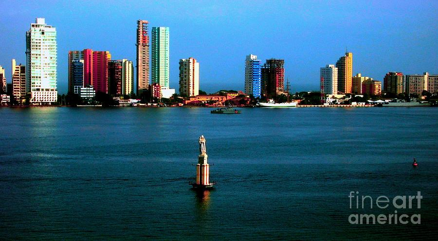 City Photograph - Welcome To Cartagena Colombia by Ann Johndro-Collins