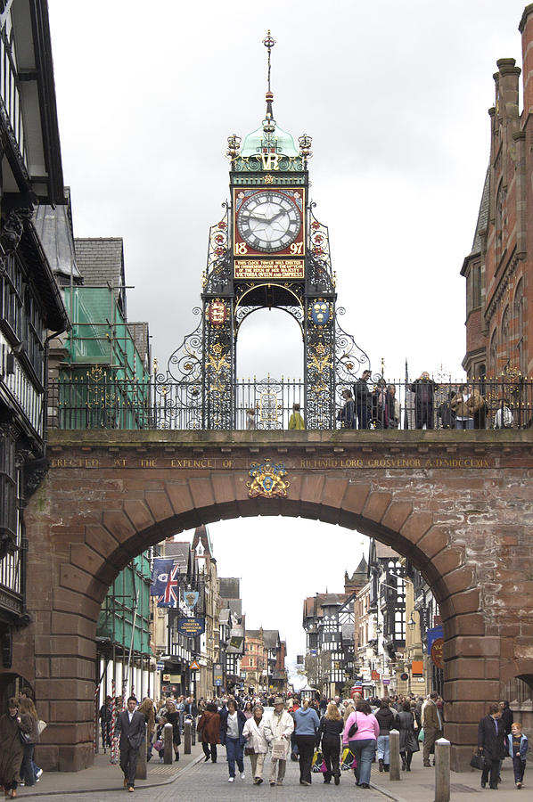 Clock Tower Photograph - Welcome To Chester by Mike McGlothlen