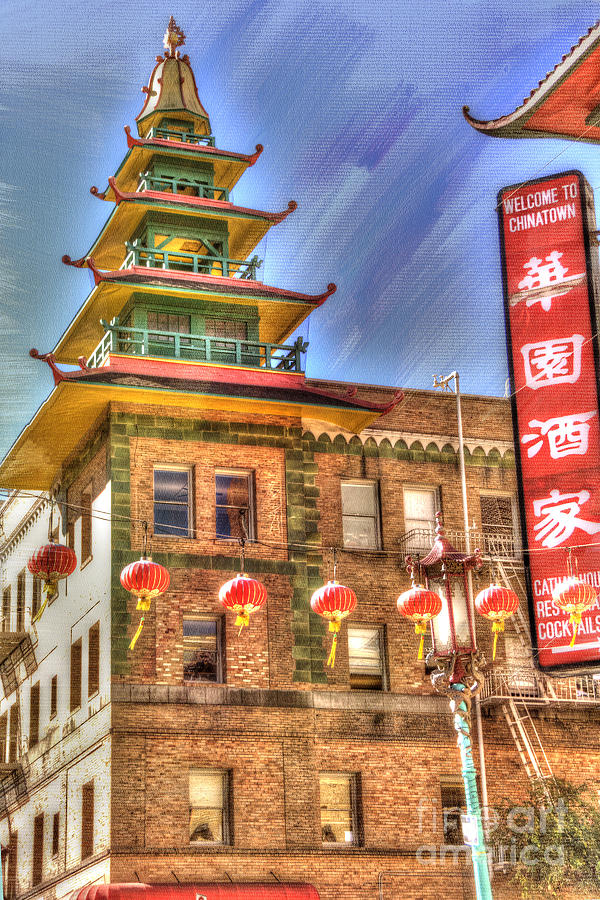 Architectural Detail Photograph - Welcome To Chinatown by Juli Scalzi