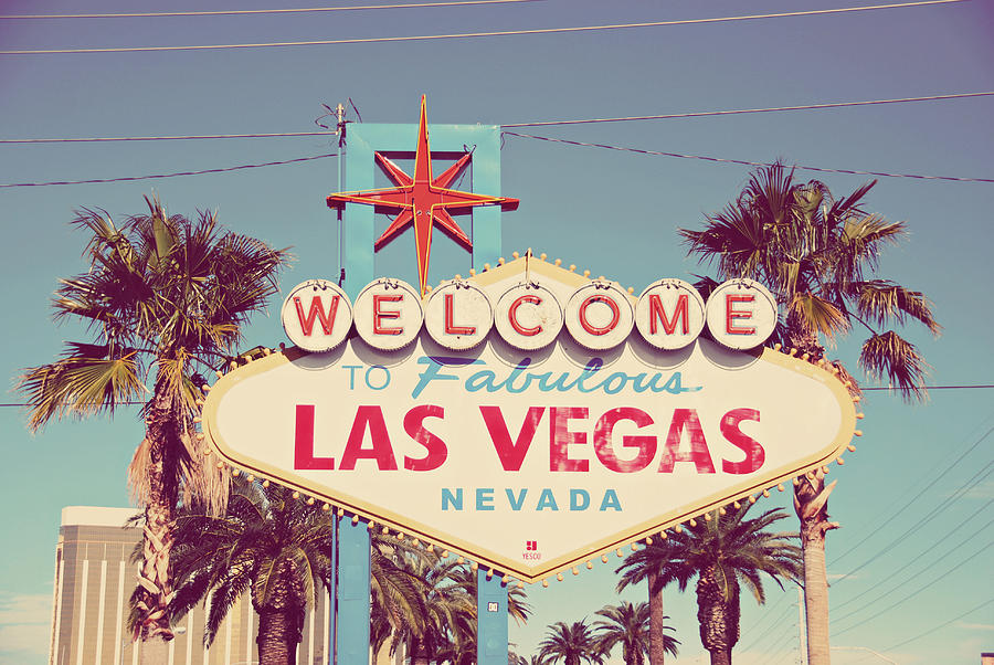 Las Vegas Photograph - Welcome to Fabulous Las Vevas by Nastasia Cook