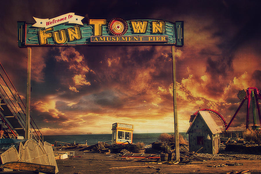Amusement Park Photograph - Welcome To Fun Town by Kim Zier