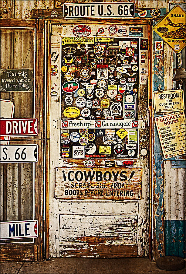 Hackberry General Store Photograph - Welcome To Hackberry General Store by Priscilla Burgers