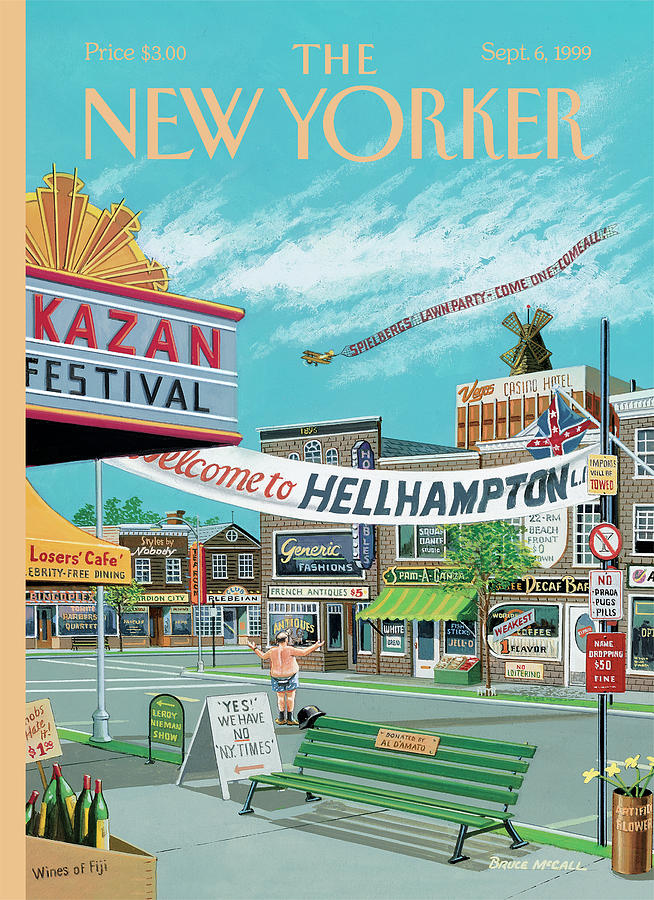 Welcome To Hellhampton Painting by Bruce McCall