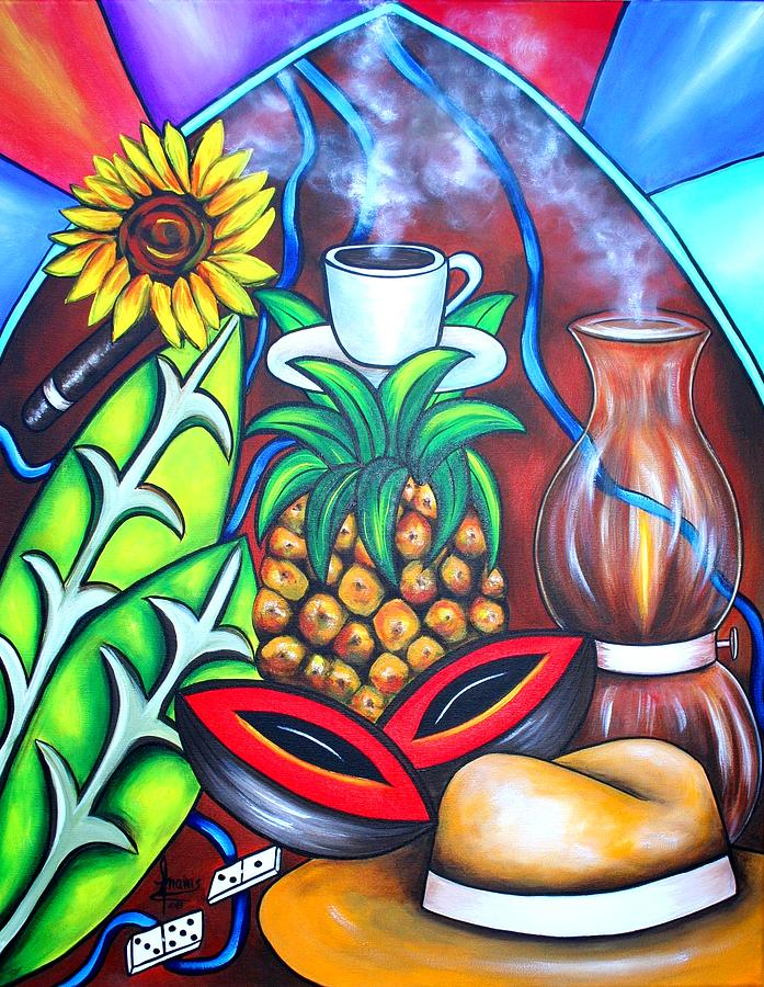 Cuban Paintings Painting - Welcome To Here And Now by Annie Maxwell