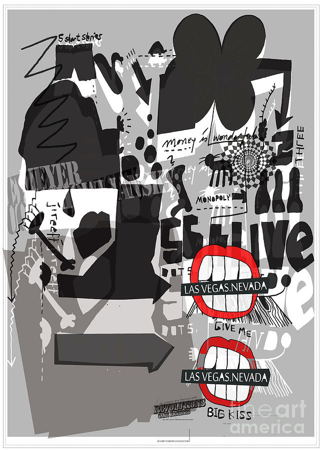 Welcome To Las Vegas Nevada    Fine Art Print  Mixed Media by Weiler WEILER