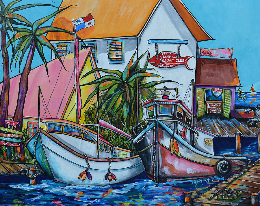 Panama Painting - Welcome To Paradise by Patti Schermerhorn