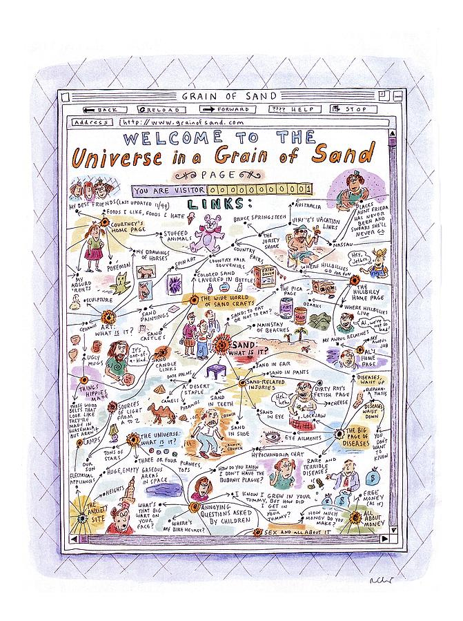 welcome To The Universe In A Grain Of Sand Drawing by Roz Chast