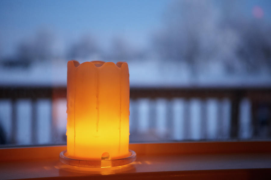 Welcoming Candle In The Window Photograph by Joe Fox