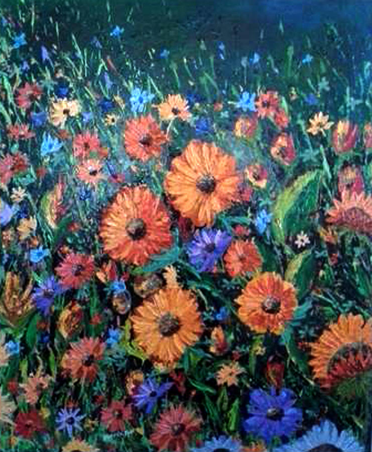 Flowers Painting - Welcoming The Dawn by Owen Lafon
