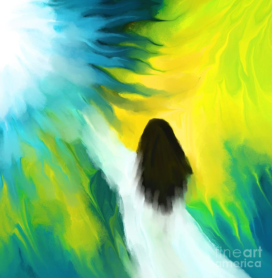 Abstract Painting - Welcoming The Light by Hilda Lechuga