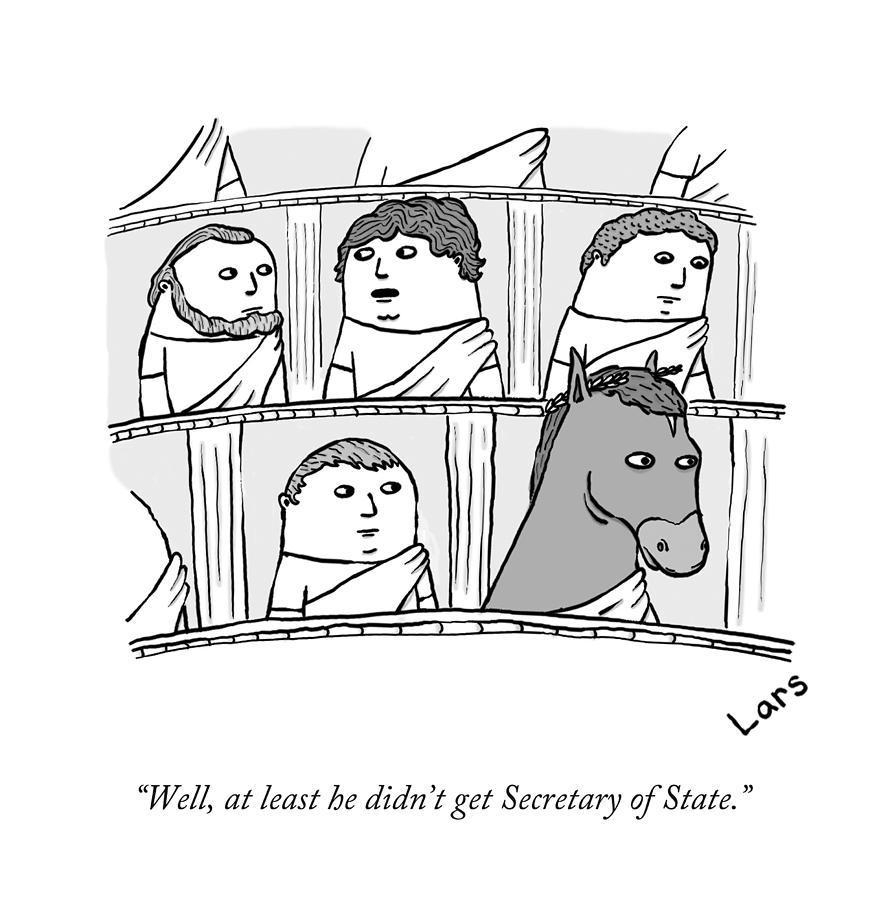 Roman Senate Drawing by Lars Kenseth