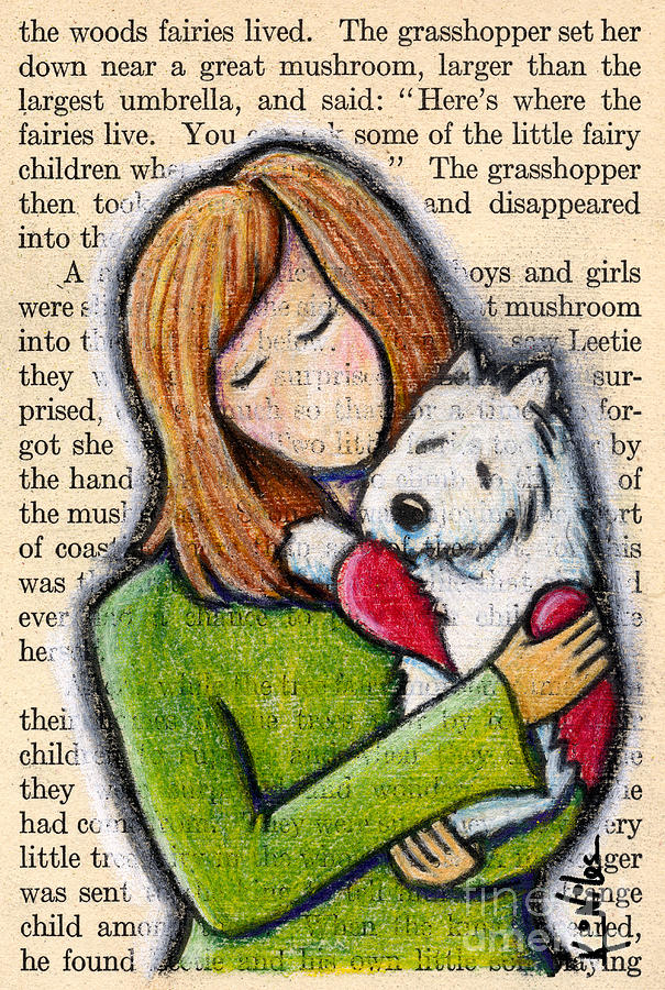 Westie Drawing - Well Both Miss You by Kim Niles