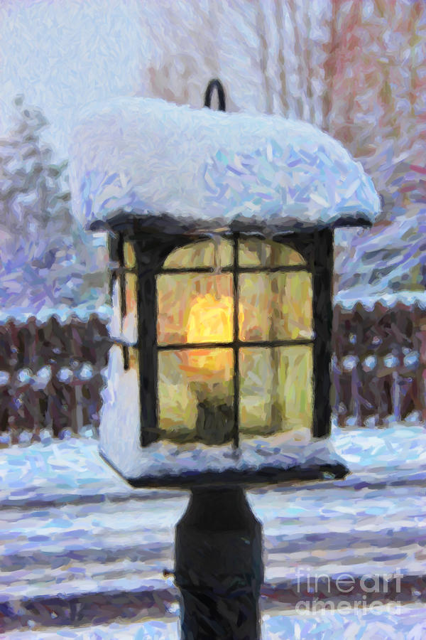 Snow Photograph - Well Leave The Light On For You by Jon Burch Photography