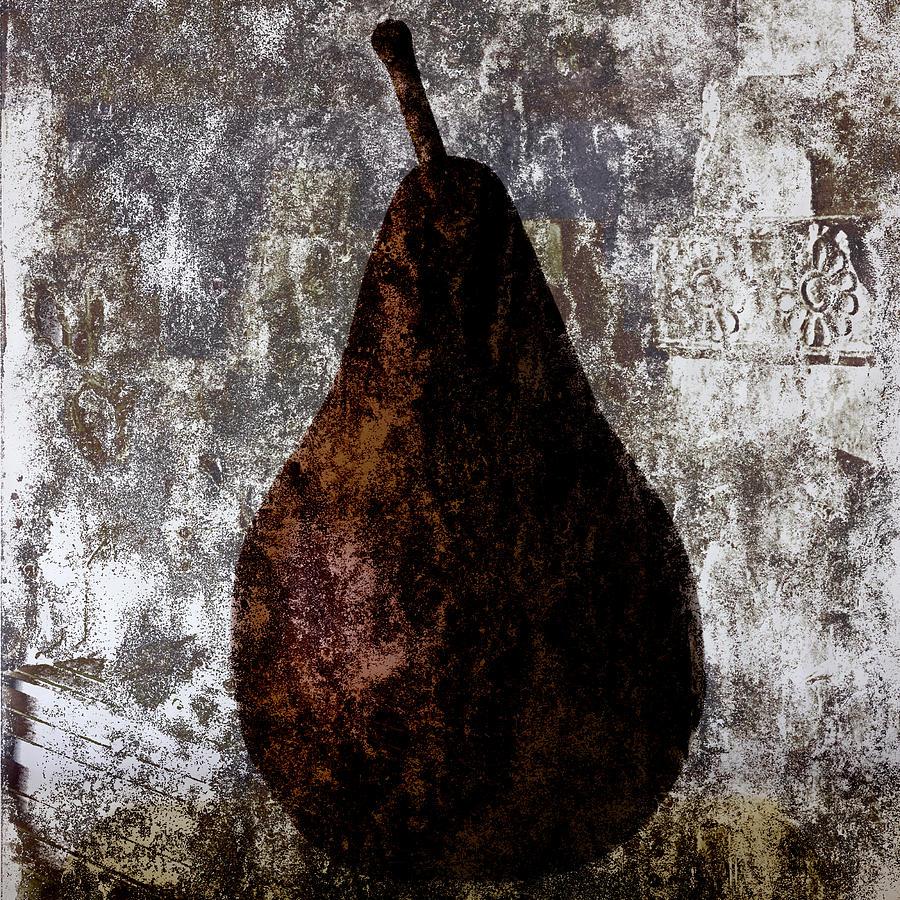 Pear Photograph - Well-read Pear by Carol Leigh
