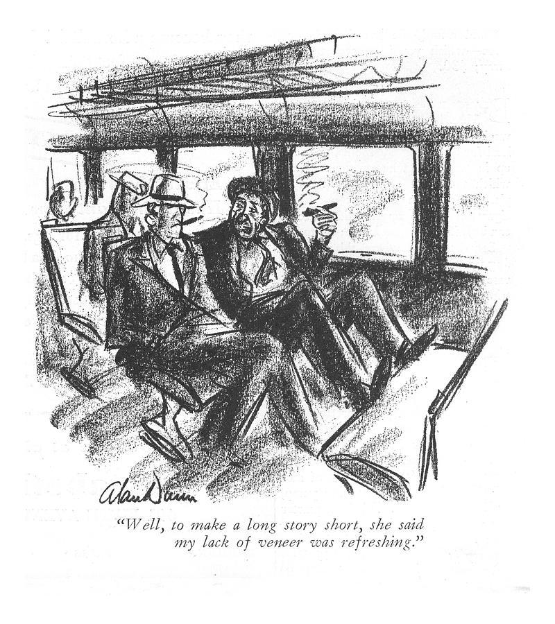 To Make A Long Story Short Drawing by Alan Dunn