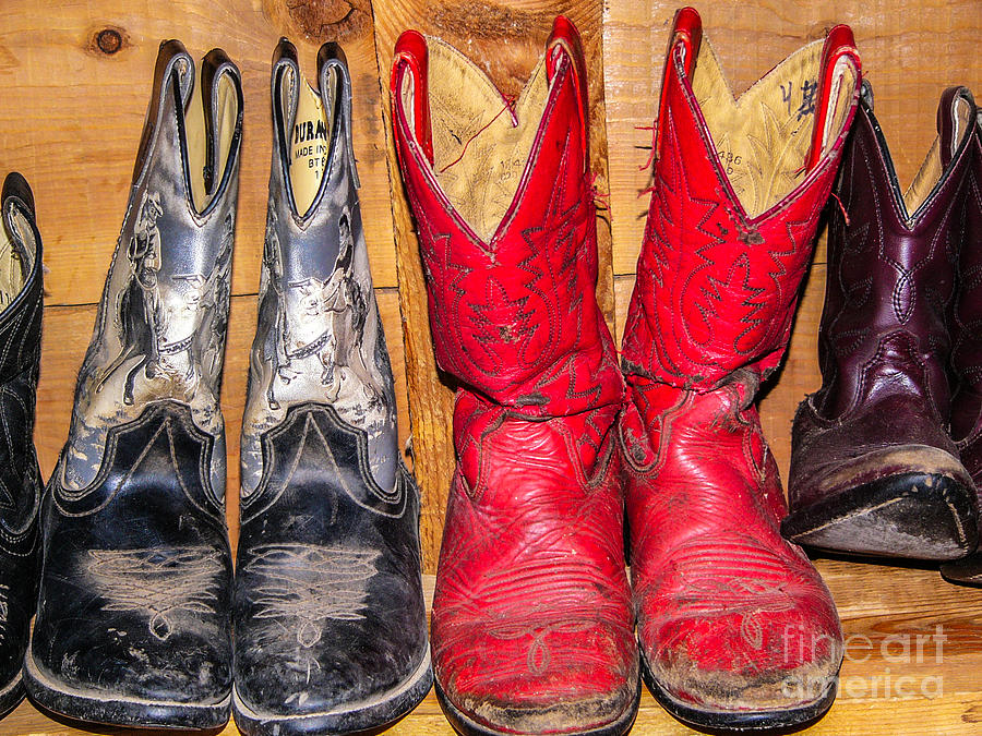 Well Worn Cowboy Boots Photograph by Sue Smith