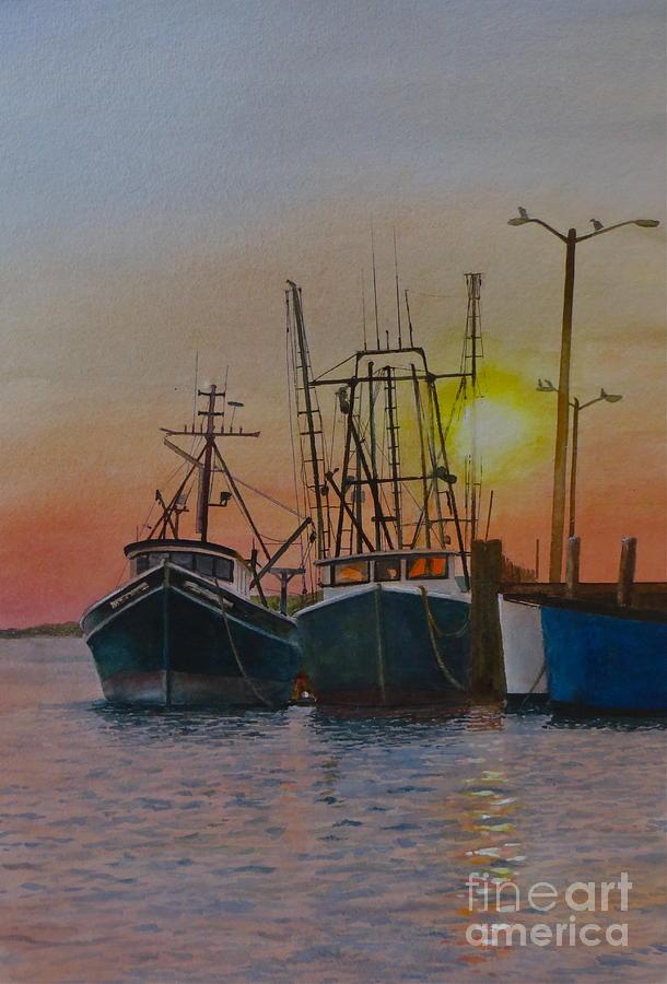 Boats Painting - Wellfleet Dusk by Karol Wyckoff