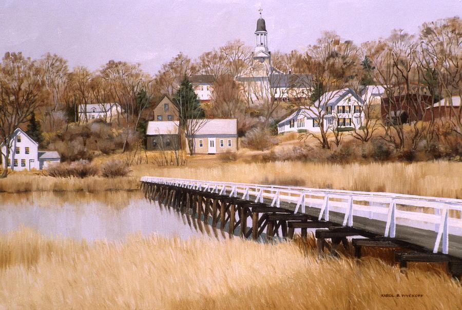 Village Painting - Wellfleet Golden Morn by Karol Wyckoff