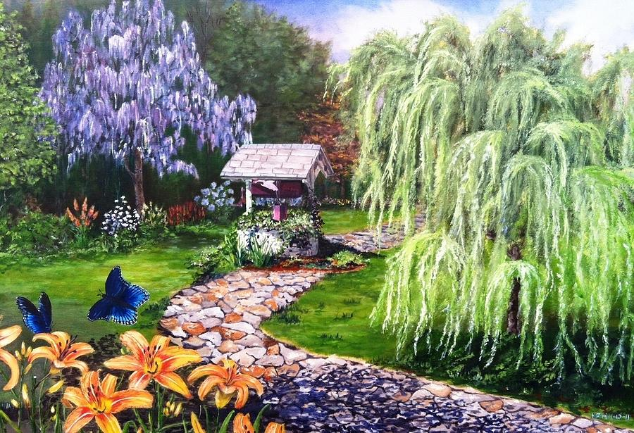 Garden Painting - Wellness by Kevin F Heuman