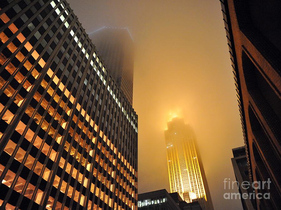 Winter Photograph - Wells Fargo Center - Minnesota by Graham Taylor