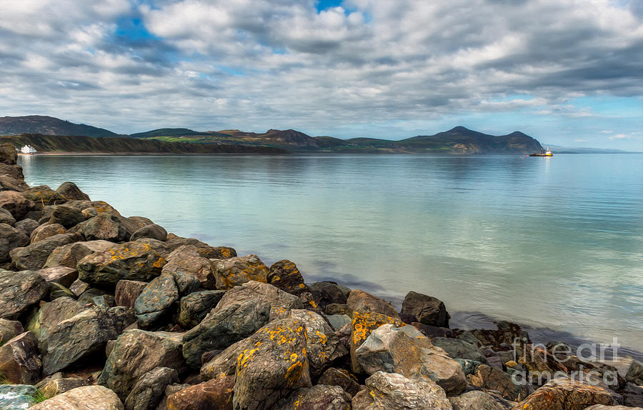 Hdr Photograph - Welsh Coast by Adrian Evans