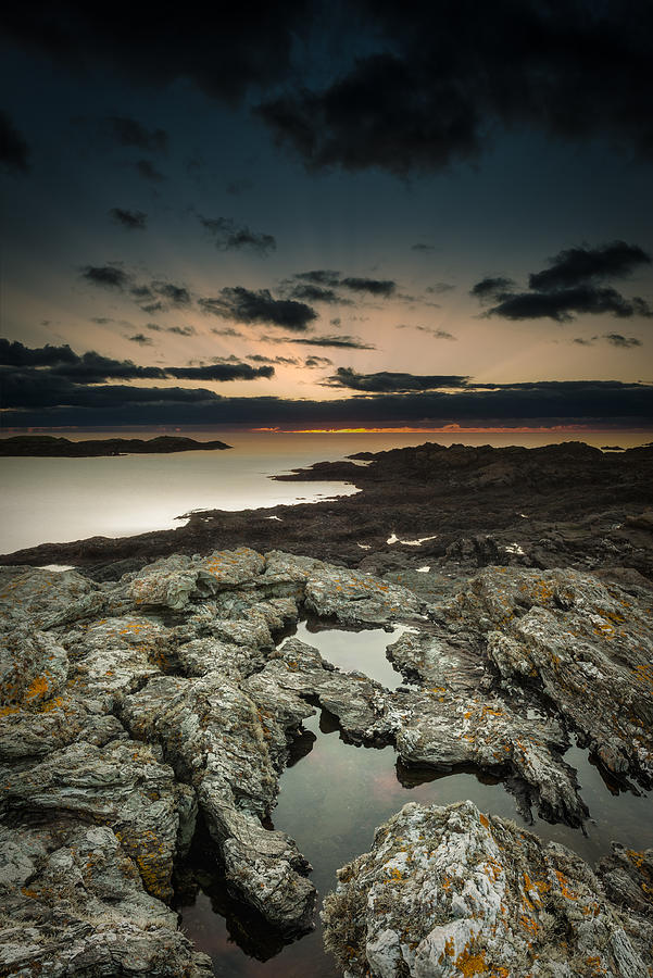 Ancient Photograph - Welsh Seascape by Andy Astbury
