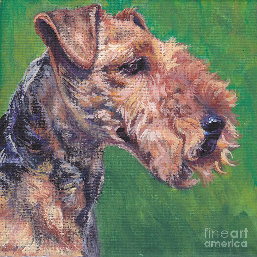 Welsh Terrier Painting - Welsh Terrier by Lee Ann Shepard