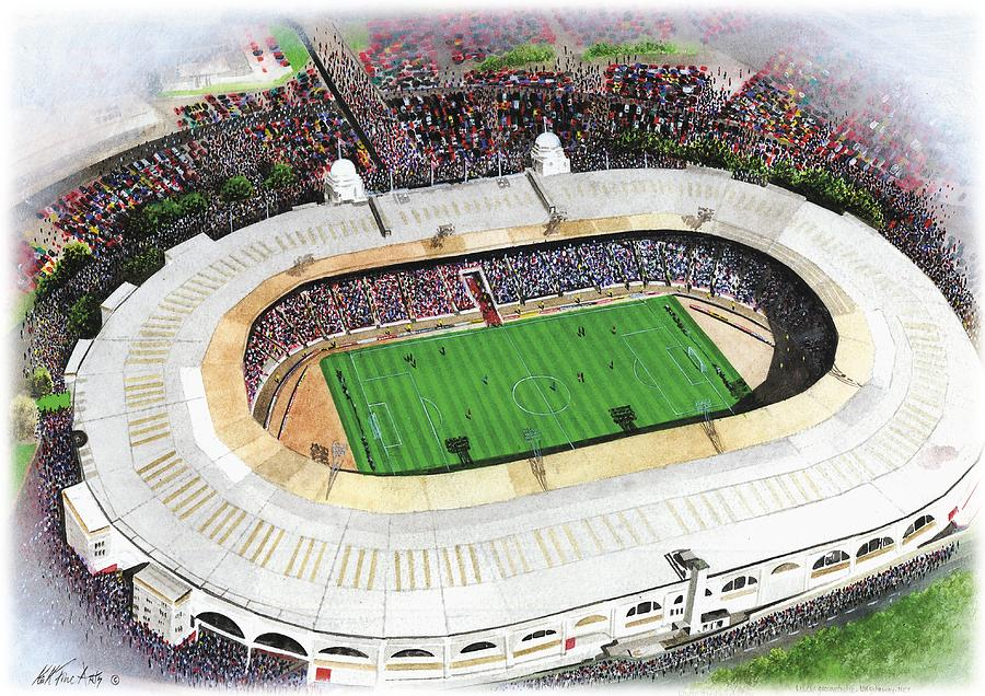 American Football Painting - Wembley Stadium by Kevin Fletcher