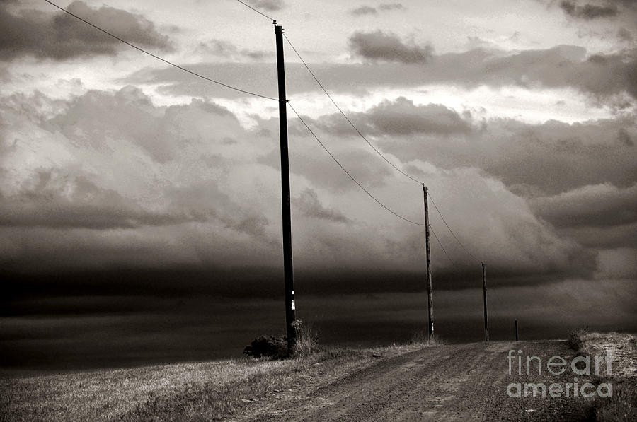 Atmospheric Photograph - Were Not In Kansas Anymore by Debra Fedchin