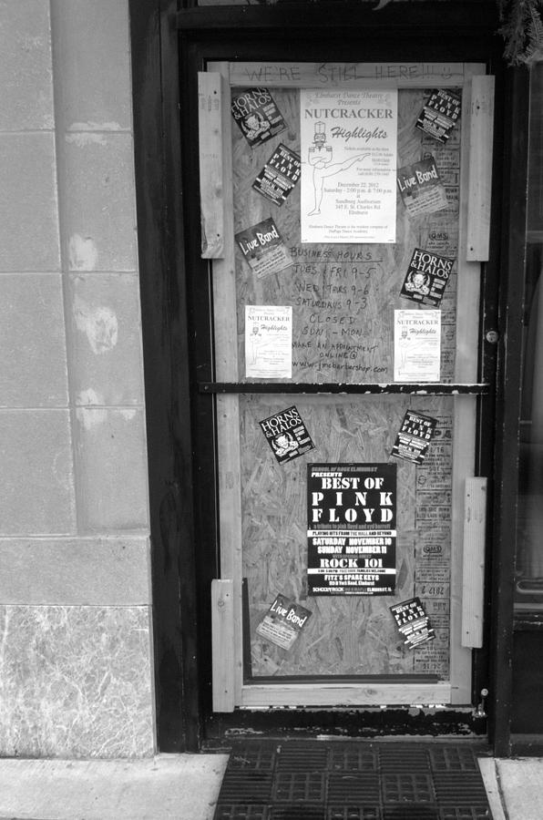 Door Photograph - Were Still Here by Anna Villarreal Garbis
