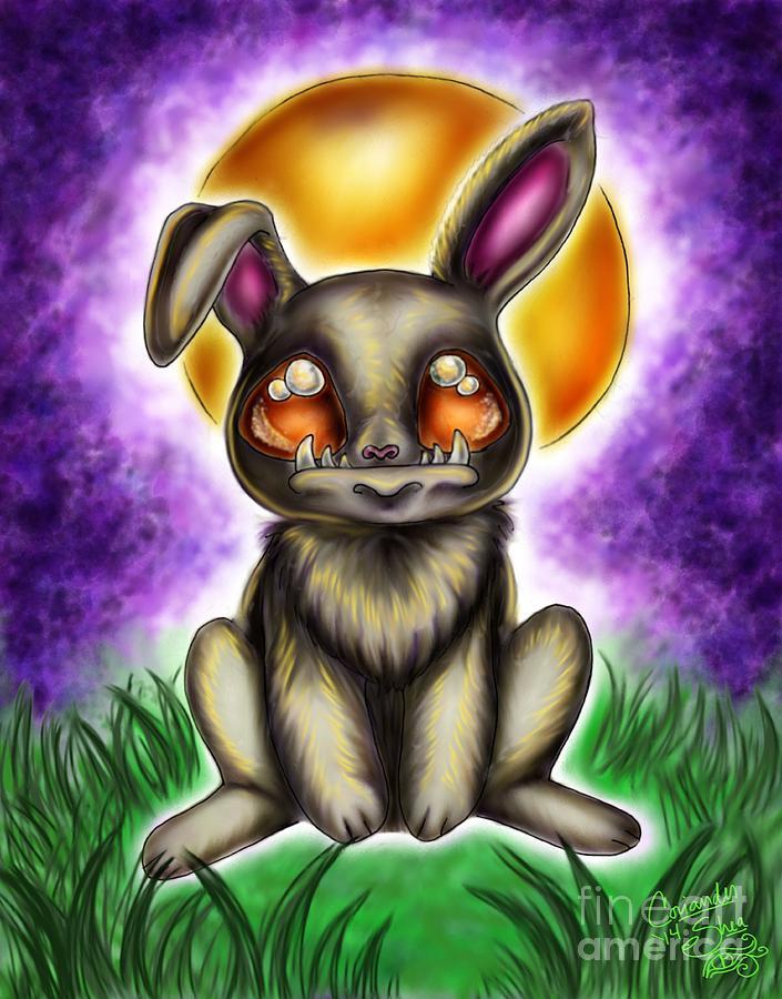 Werewolf Digital Art - Werebunny by Coriander  Shea
