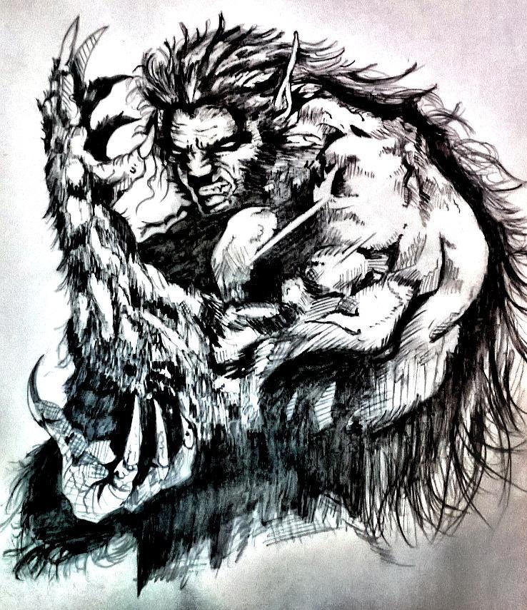 WereWolf Drawing by Shokeen Kalyan