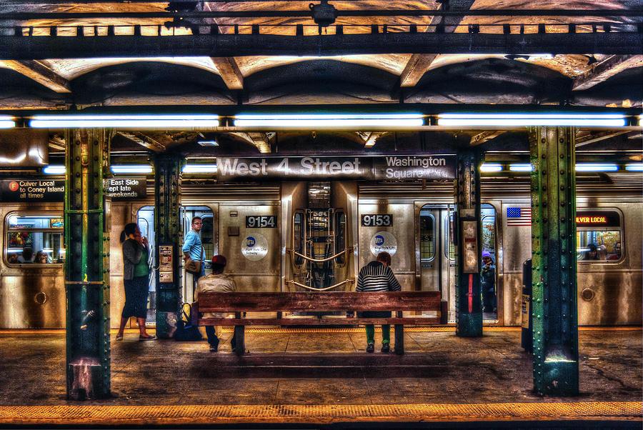 Manhattan Photograph - West 4th Street Subway by Randy Aveille