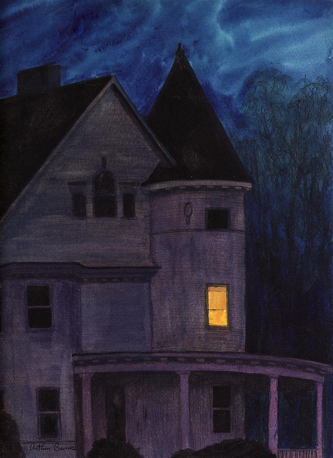 Nocturnes Painting - West Center Victorian by Arthur Barnes