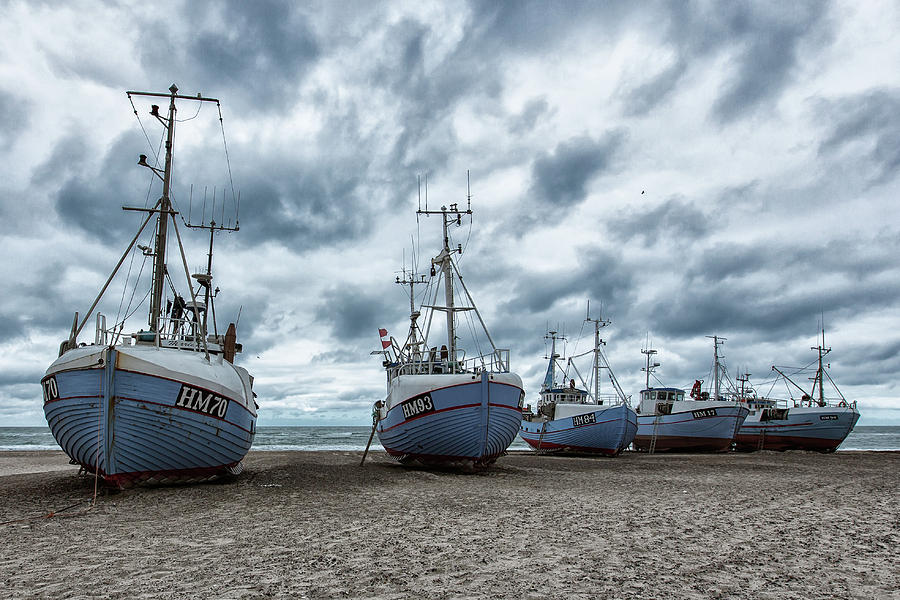 Fishing Photograph - West Coast Fishing Boats. by Leif L??ndal