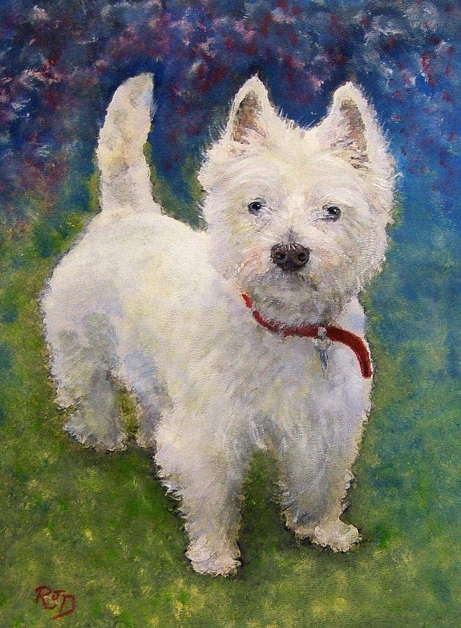 West Highland Terrier Holly Painting