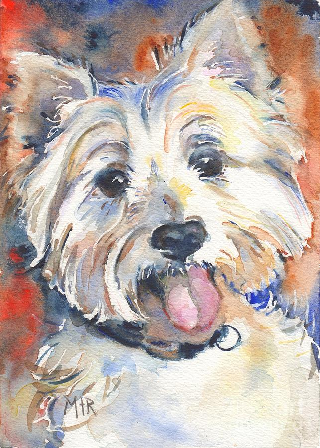 Westie Painting - West Highland Terrier by Marias Watercolor