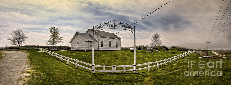 Downtown Photograph - West Liberty Cemetery by Gregory Dyer