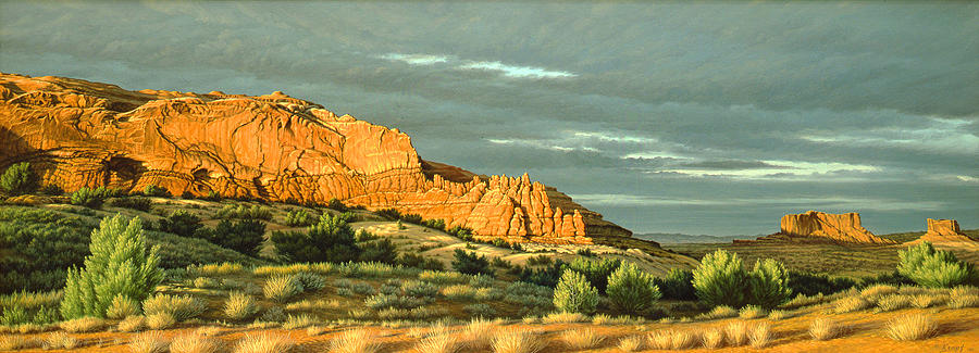 Landscape Painting - West Of Moab by Paul Krapf