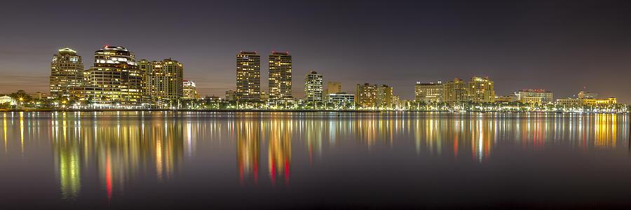 Flagler Photograph - West Palm Beach Skyline by Debra and Dave Vanderlaan