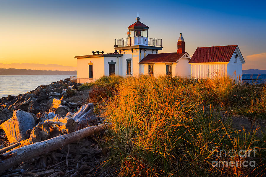 America Photograph - West Point Lighthouse by Inge Johnsson