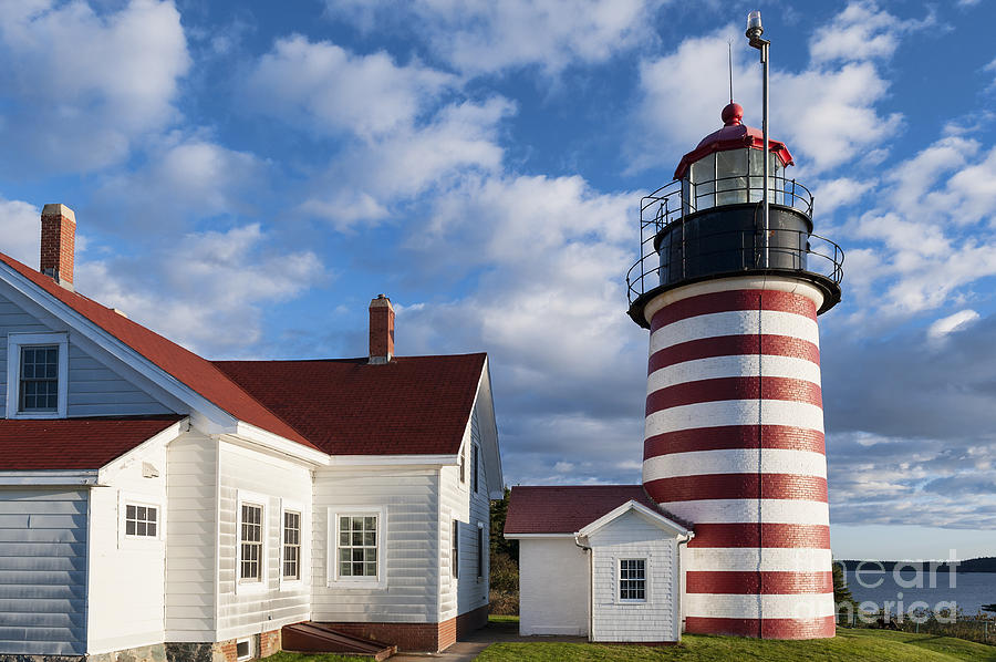 Lubec Photograph - West Quoddy Head Lighthouse by John Greim