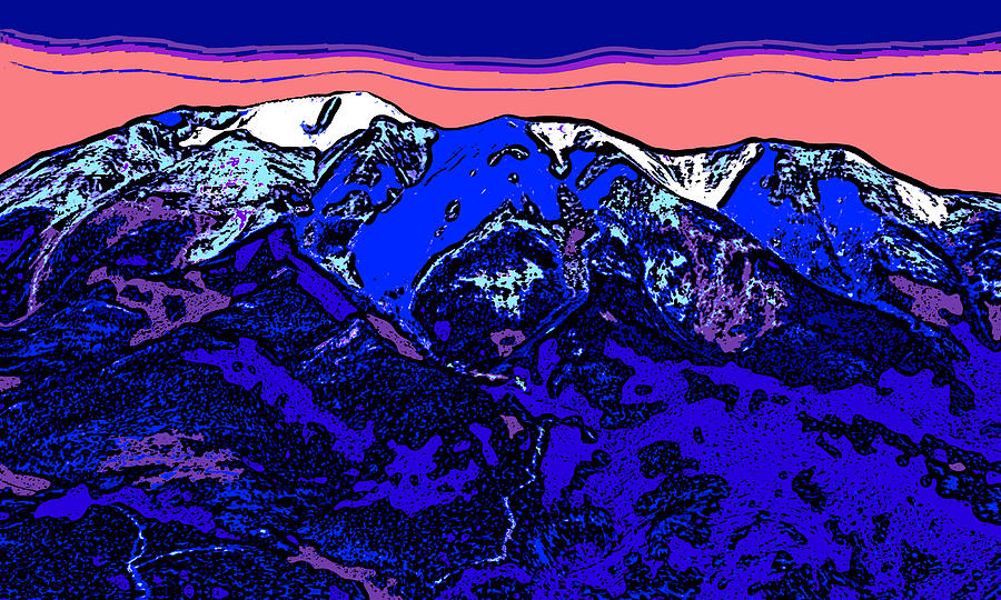 West Spanish Peak- Colorado Digital Art