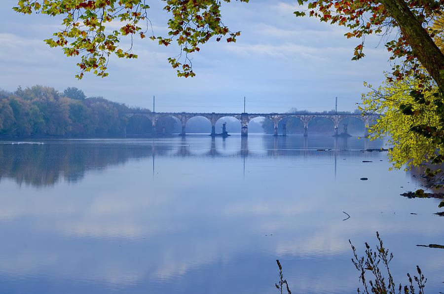Csx Photograph - West Trenton Railroad Bridge by Bill Cannon