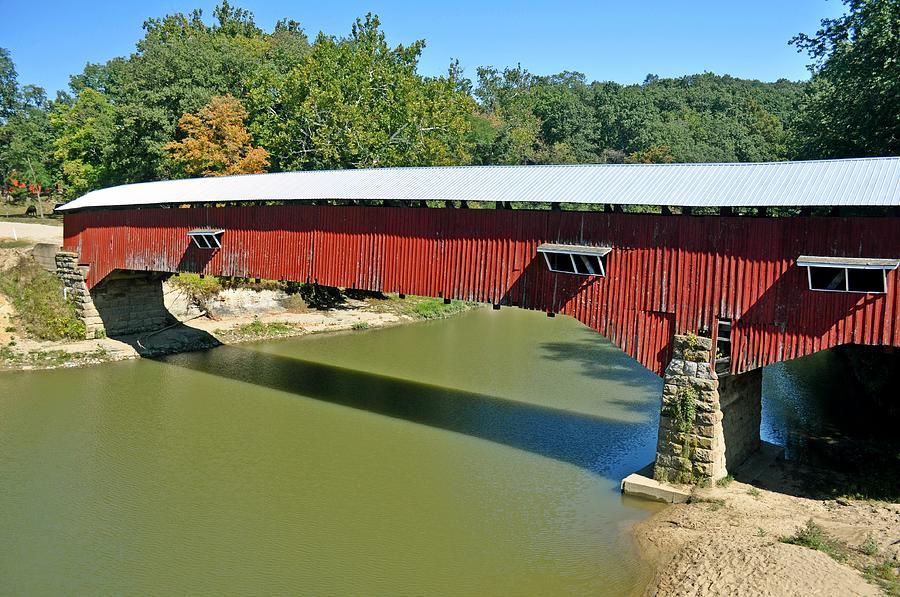 Covered Bridge Photograph - West Union Covered Bridge 2 by Marty Koch