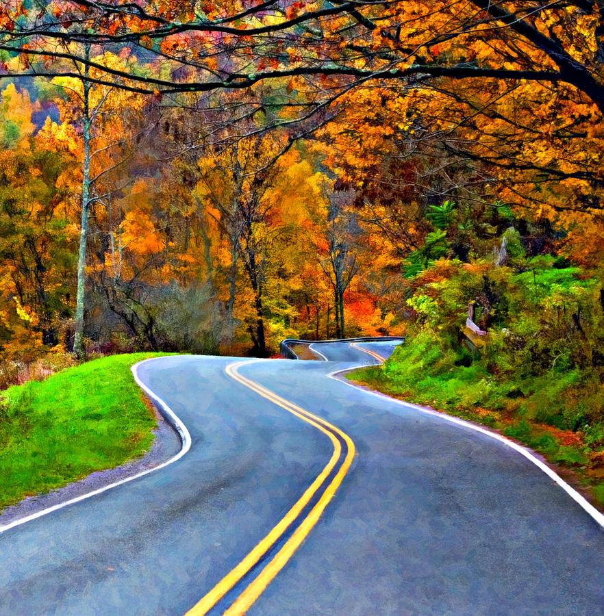 West Virginia Photograph - West Virginia Curves 2 Oil by Steve Harrington